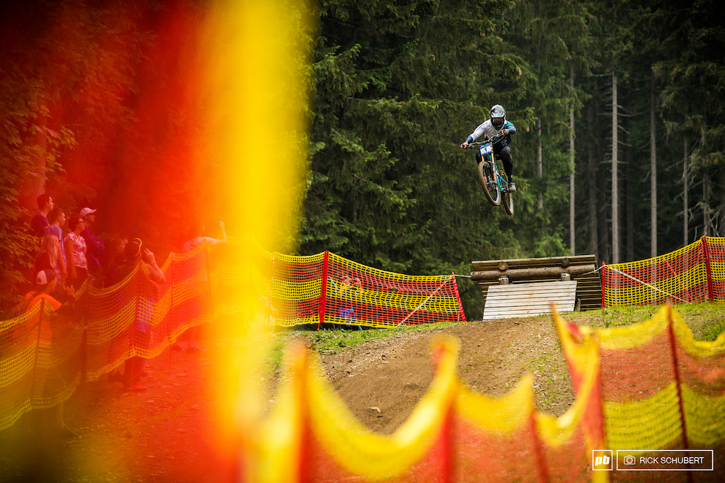 Barth sending it big into the finish area