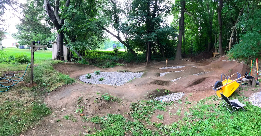 Pump track is just about finished