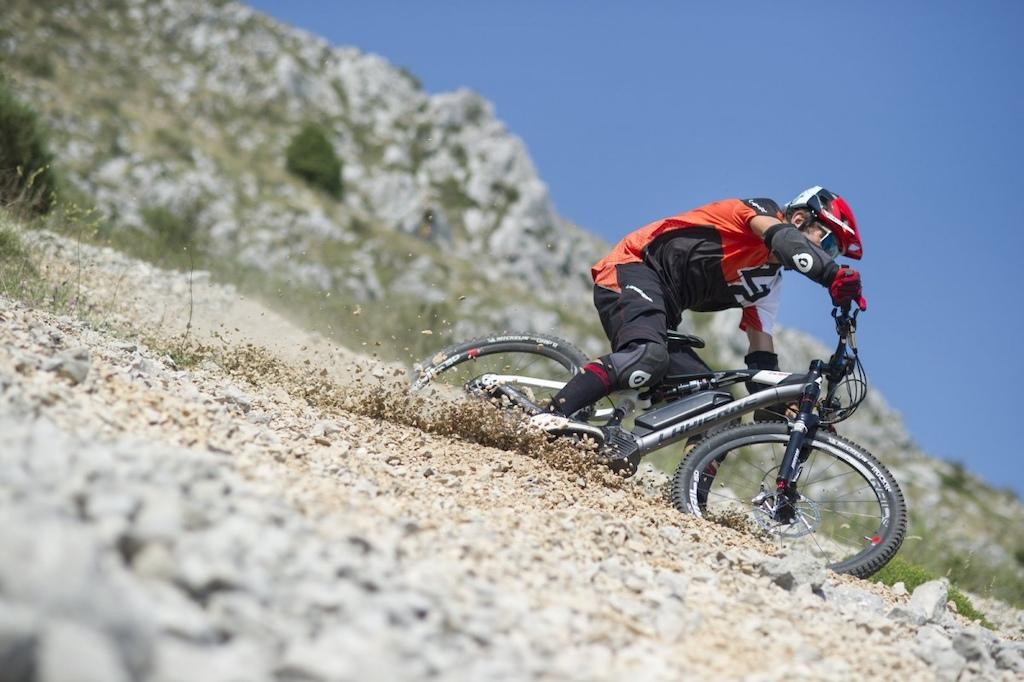 Jean Pierre Bruni riding Lapierre s Overvolt eMTB. Photo Credit Lapierre