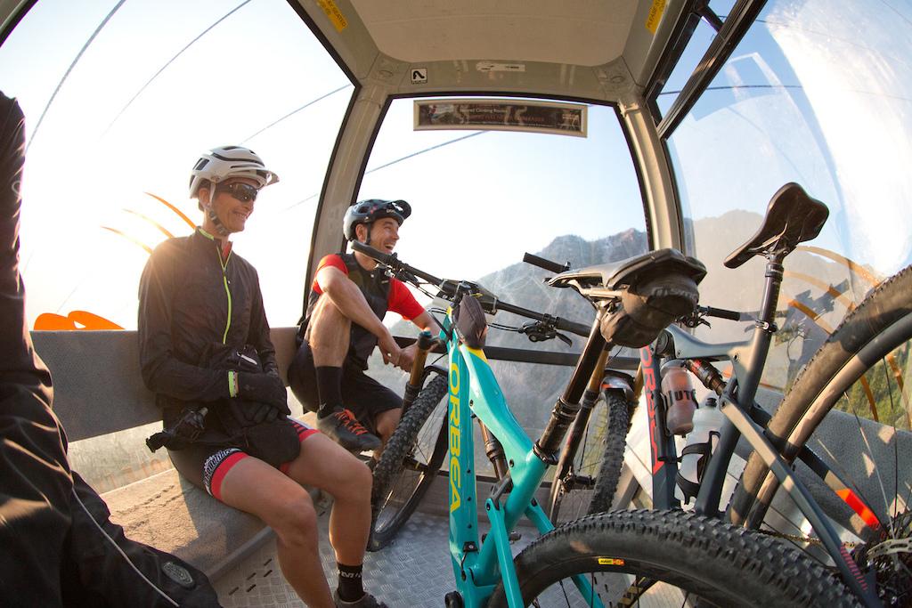 rider Simon Andre and Nadine Sapin