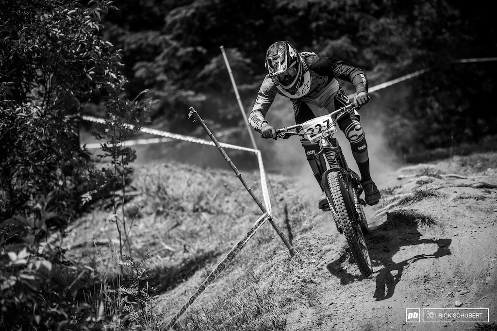 Loic Marten fought hard but had to settle for second
