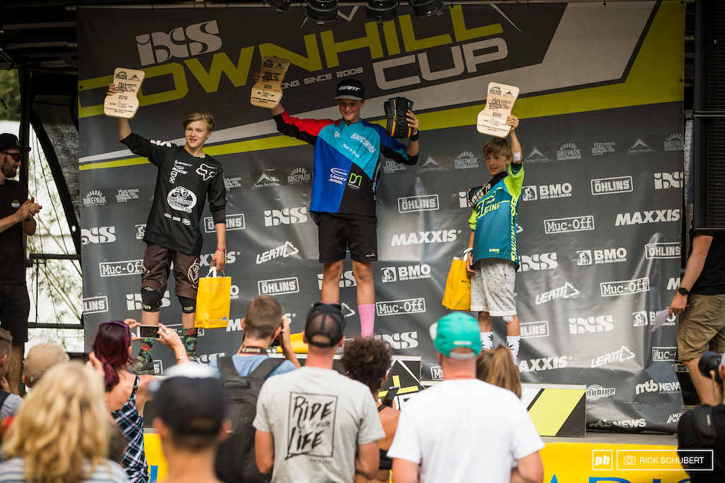 Podium Boys U13 with Johannes Hoerl, Mike Huter and Luis Kelch