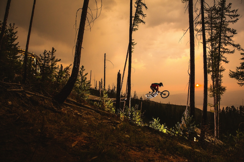 Spencer table topping it between some glorious pieces of woodwork, as most of the Okanagan burns behind him.  Over a year planning to finally get this shot the way I wanted it, but stoked on how it turned out in the five minutes of light we ended up having to work with.