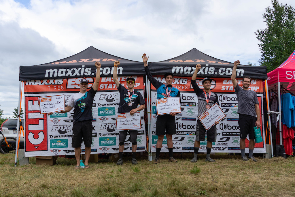 Pro Men from left to right. Jason Scheiding 4th - Issac Allaire 2nd - Seamus Powell 1st - Dylan Conte 3rd - Chris Miller 5th .
