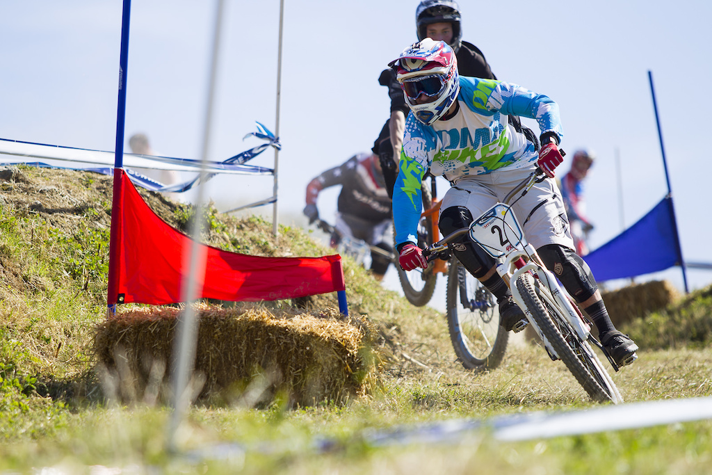 during round 4 of The Schwalbe British 4X Series at Pennines Farm Falmouth United Kingdom. 8August 2015 Photo Charles Robertson