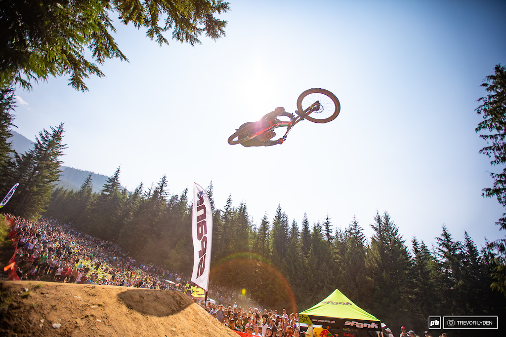 Jumper extrodinaire and YouTube sensation Fabio Wibmer put down some lofty whips