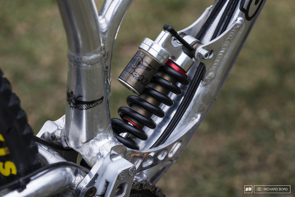The rear shock is made by Ancillotti.