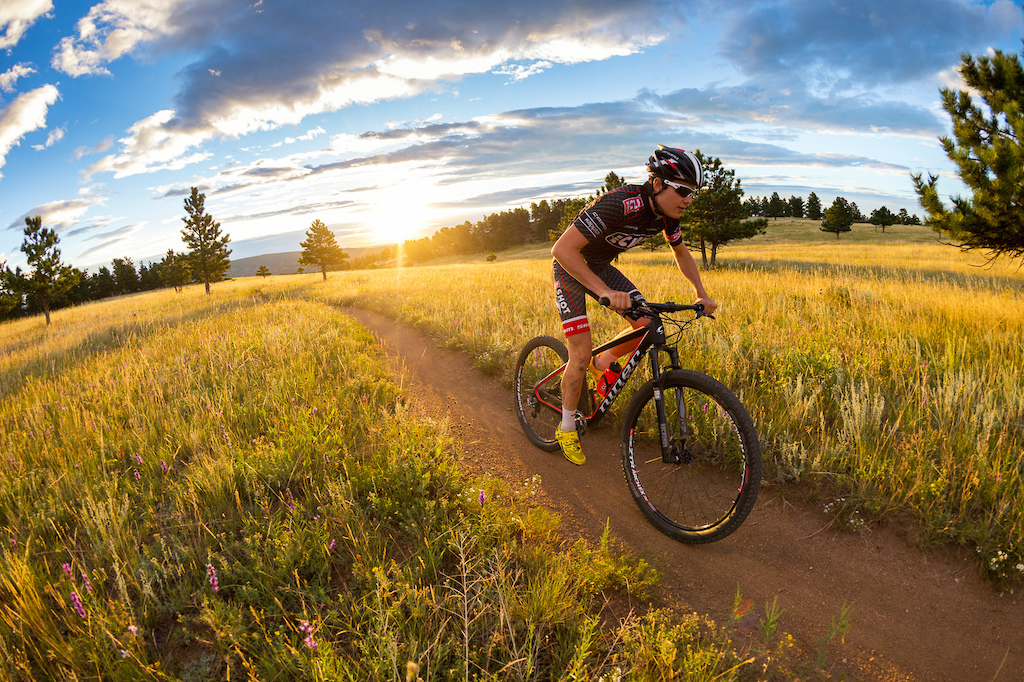 Liam Dunn rides the new Niner Bikes AIR 9 RDO at Hall Ranch near Lyons Colorado.