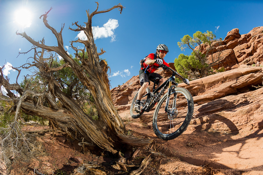 Tyson Swasey rides the Niner RIP 9 RDO on the Captain Ahab trail in Moab Utah