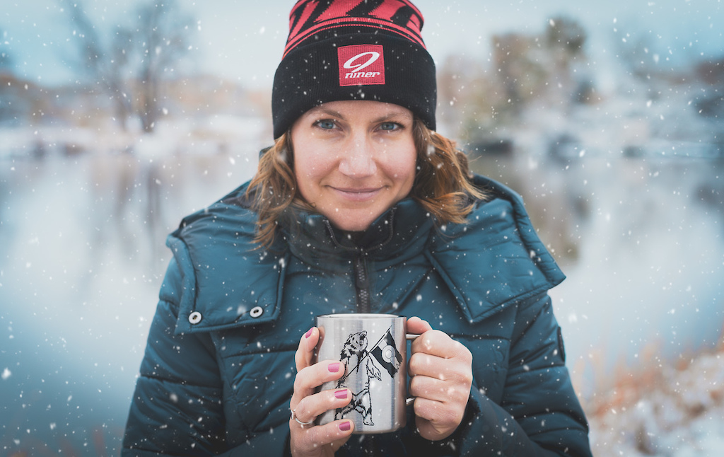 Shooting products like coffee mugs and beanies isn't always the most exciting stuff, but I definitely tried to make the most out of it. We had snow on the ground for this shot, and I added snow flakes in the air and steam from the mug in post.