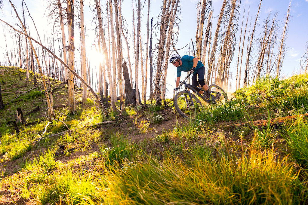 When Niner launched the new RIP 9 RDO and JET 9 RDO they held a press launch at the Coyote Yurt with Sun Valley Trekking. While some people chilled before dinner a few of the journalists and I headed out with Adrian and a guide in search of some epic images. This is one of my favorites from that evening.