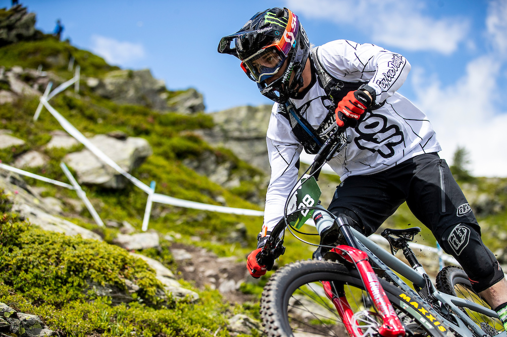 during round 5 of the Enduro World Series in La Thuile Italy.