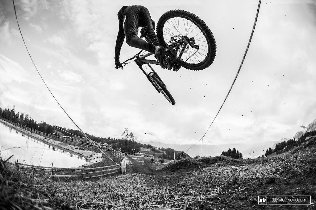 Martin Lebl on the fly off jump