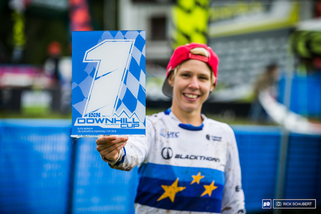 Monika Hrastnik wins the iXS European DH Cup overall