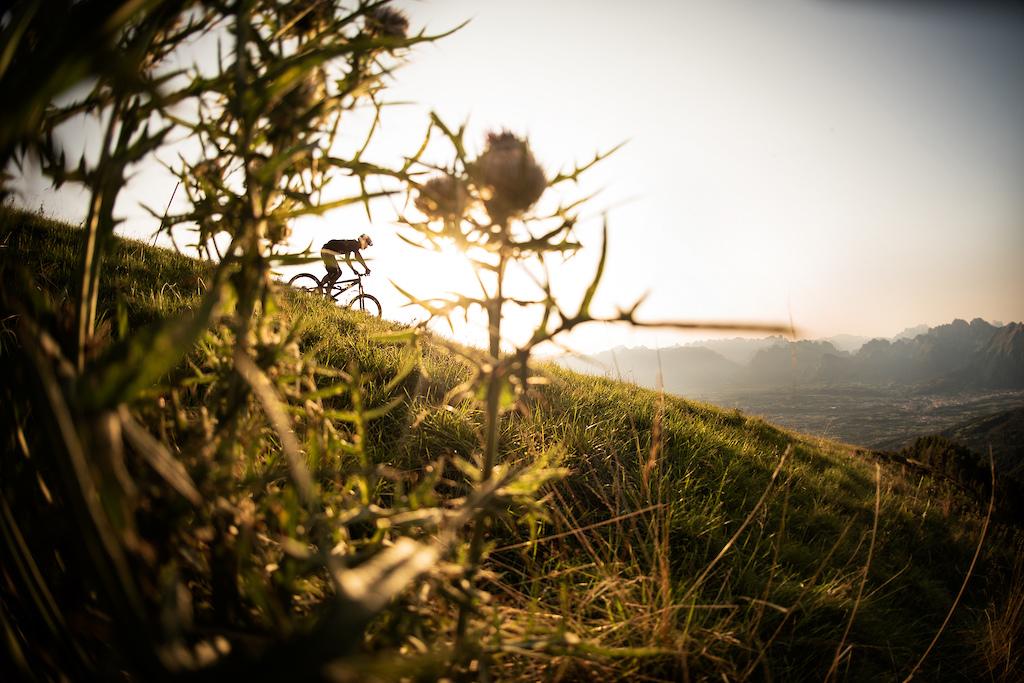 Ridge trail down from Col Visentin - Veneto Italy