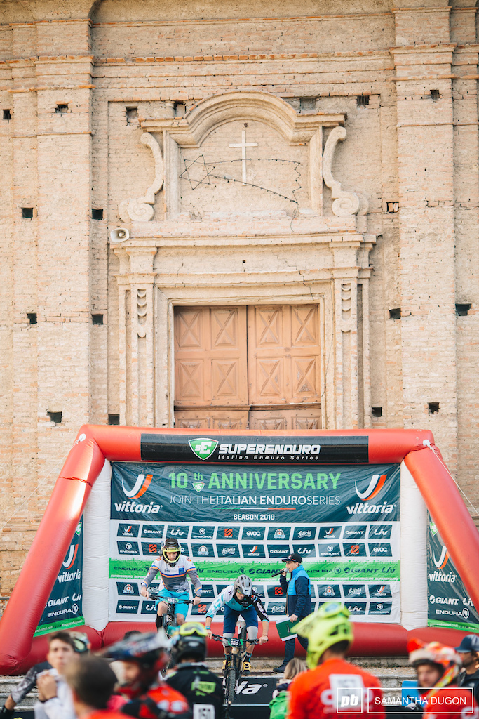 Having your start line outside a church and rolling off down the steps Only the Superenduro could make something so unique happen.