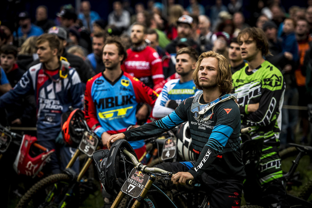 Laurie Greenland seen at Red Bull Hardline in Wales UK on September 24 2017 Nathan Hughes Red Bull Content Pool AP-1TB8C1Y1S2111 Usage for editorial use only Please go to www.redbullcontentpool.com for further information.