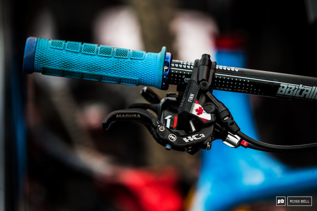 Finn Iles Magura levers get a splash of Canadian.