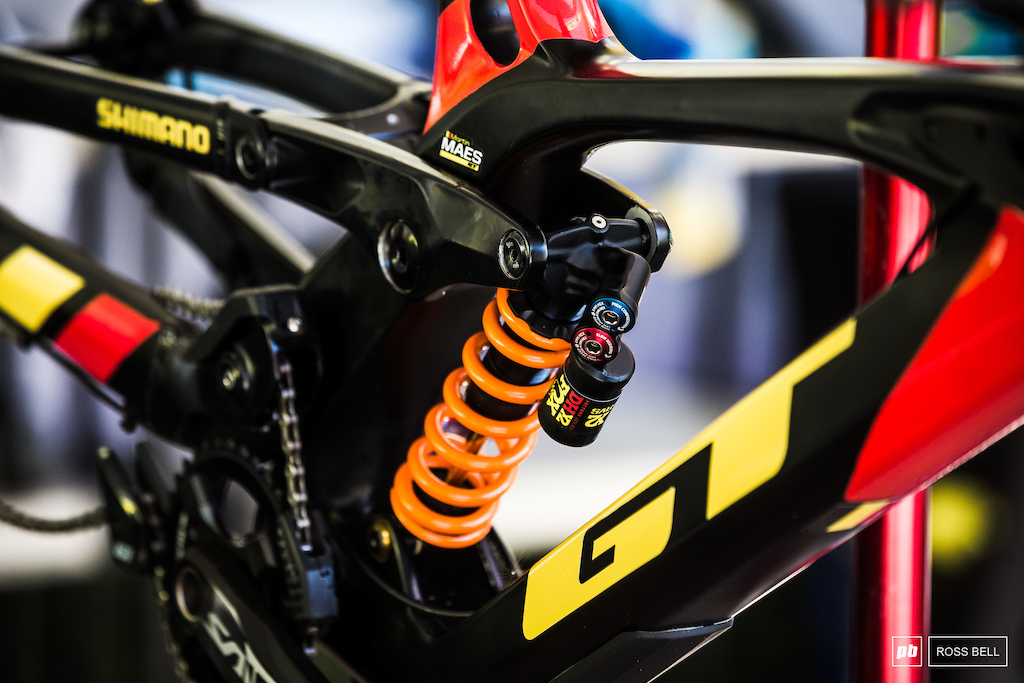No mistaking who this bike belongs to. Martin Maes is flying the flag for Belgium and has a strong shot at the medal positions.