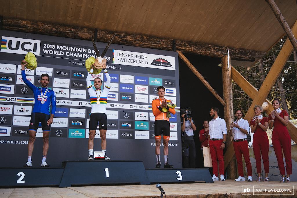 Your men elite podium- Schurter, Kerschbaumer, van der Poel. Looks like Bart was right on this one.