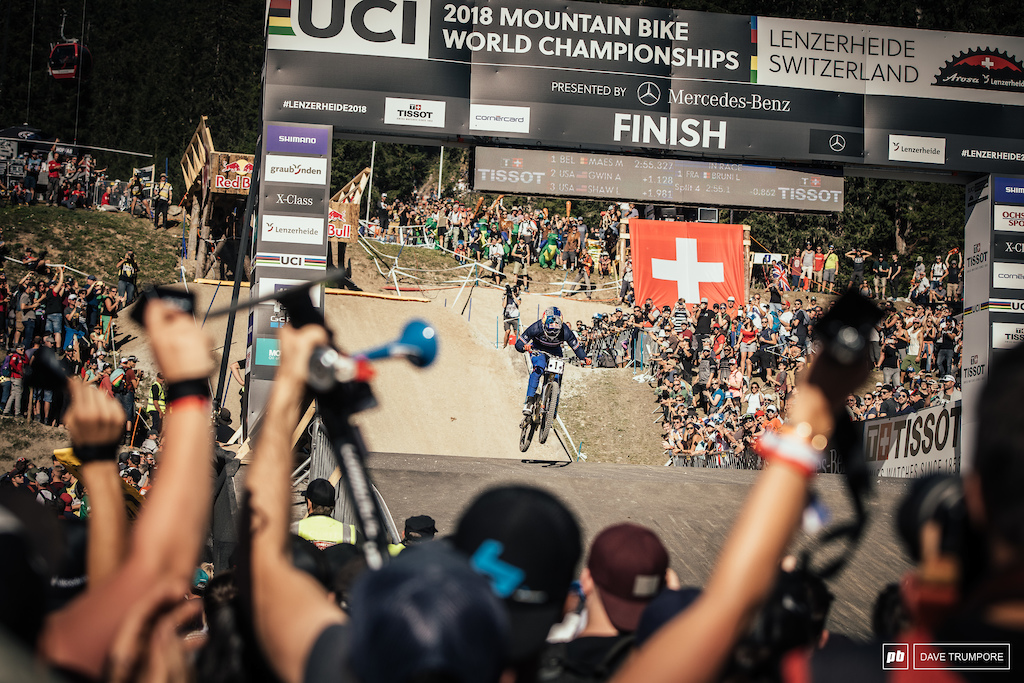 Ahead at the splits and pinned into the finish, Loic Bruni would go fastest to take his third World Championship.