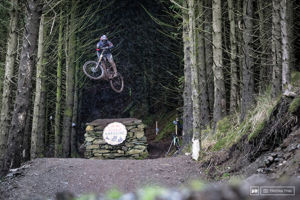 Kade exits the woods - riders faced sporadic rain throughout the day making visibility problematic