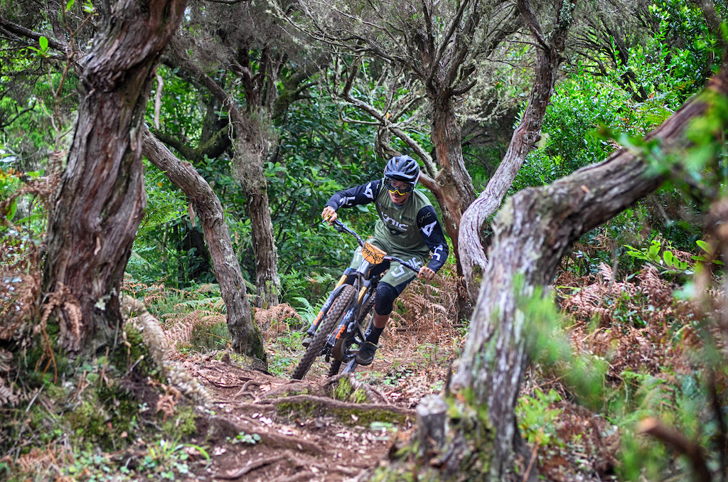 French YT rider Bryan Regnier enjoying himself on his first enduro race after a while