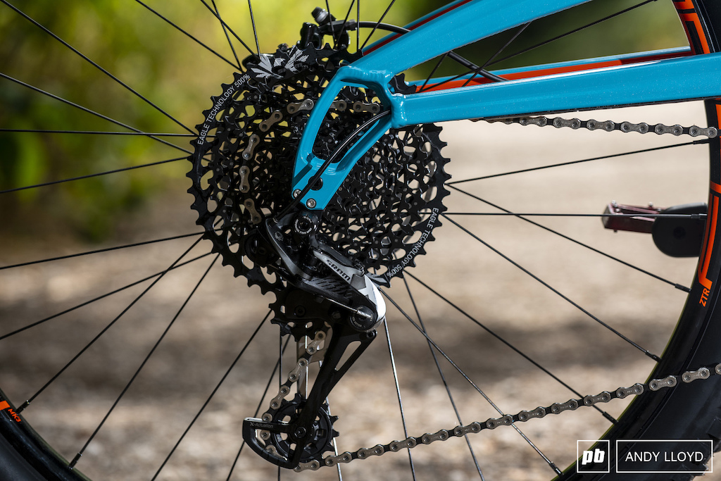 It s hard to fault SRAM s Eagle drive train when it s set up well.