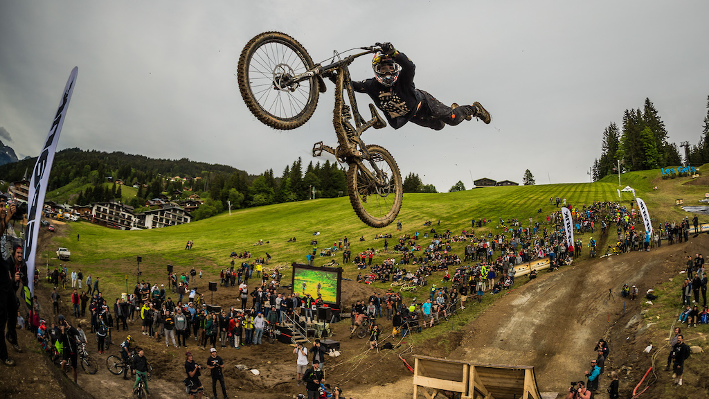 Andreu Lacondeguy at Whip Off Championships Crankworx Les Gets 2016. Photo by Sean St.Denis