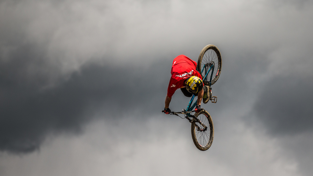 Nicholi Rogatkin, twister, Crankworx Les Gets Best Trick. Photo by Sean St. Denis