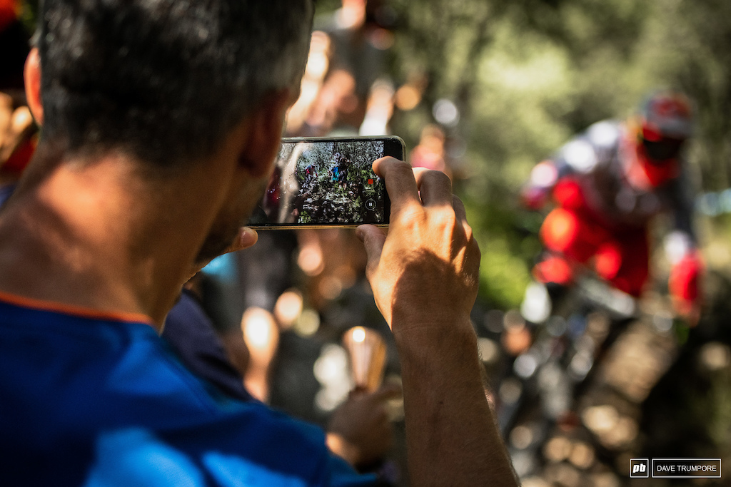 Media takes many forms these days and lots of locals were out in force doing their best to get the shot of their favorite riders.