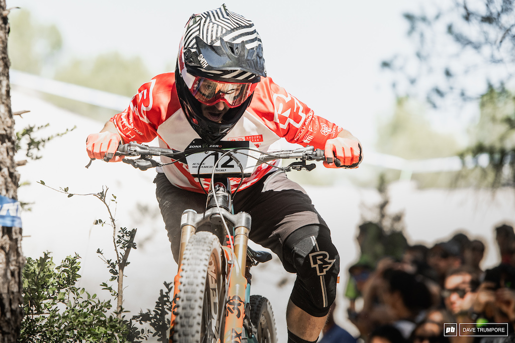 Jesse Melamed mixed it up in the top 10 despite riding with a still broken hand sustained at the last round in Whistler.