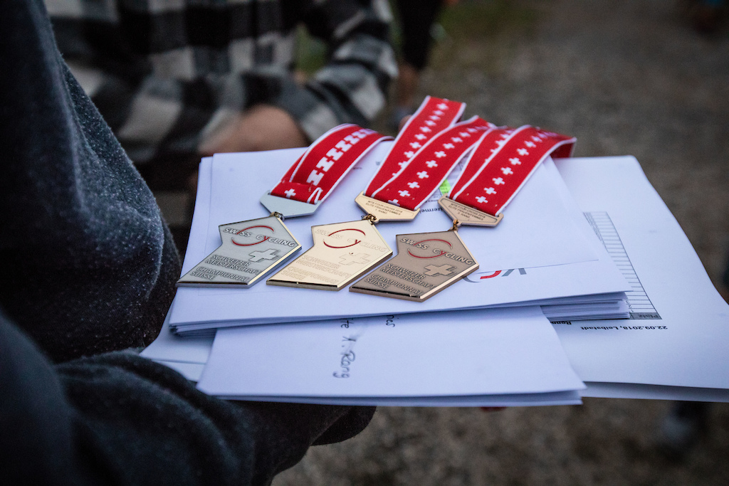 Gold Silver Bronze - The colours of the swiss championship medals