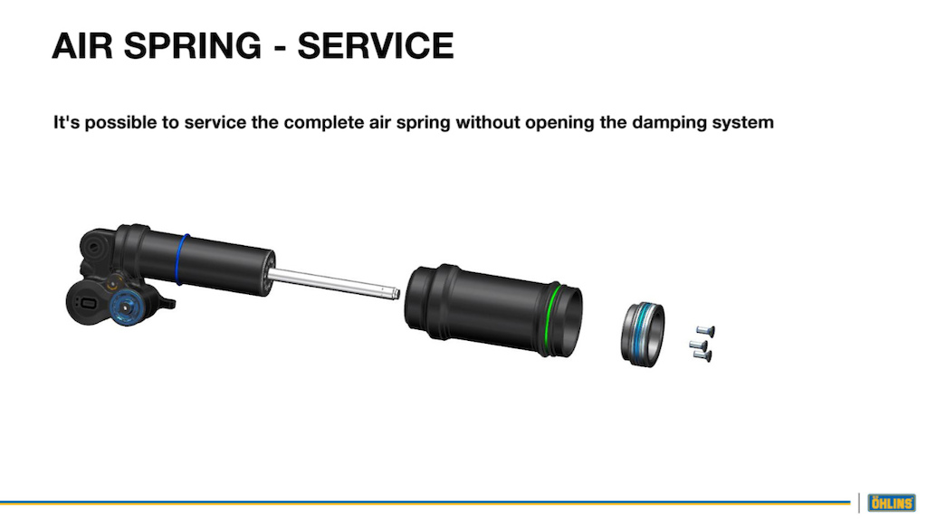 The TTX Air can can be serviced independently to the damper.