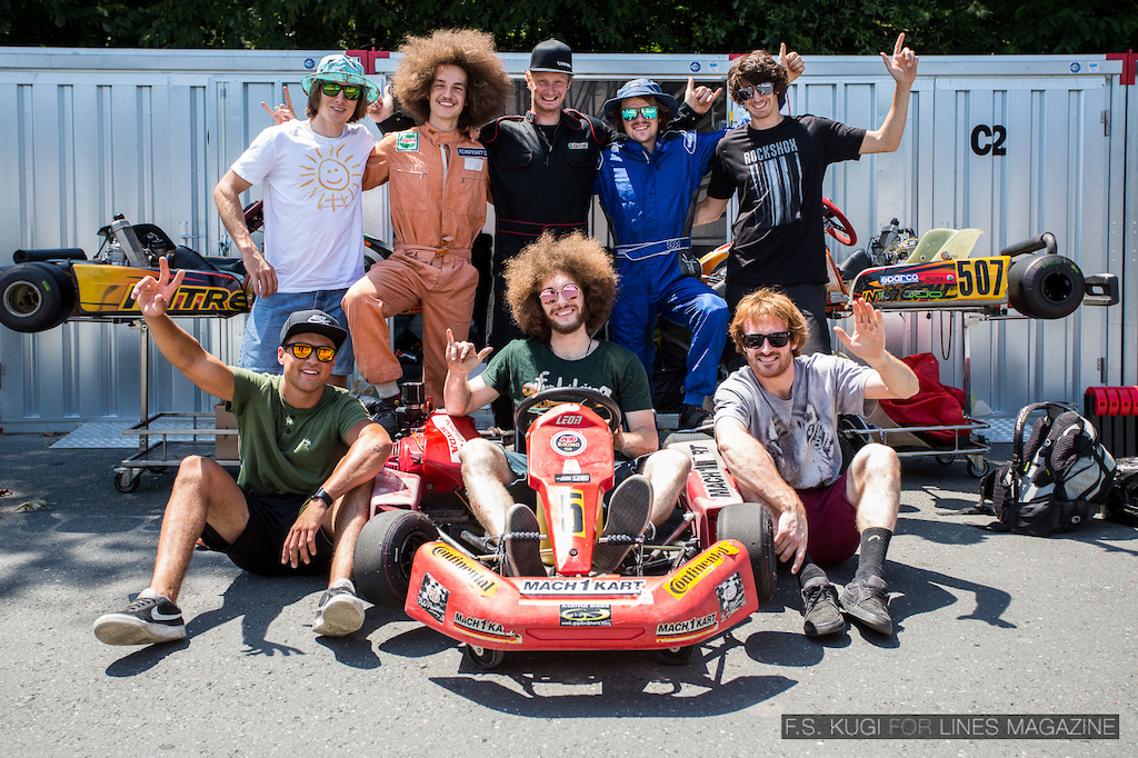 On the last day we were going Gokart racing. Picture is owned by LINES magazine and was shot by F.S. Kugi.