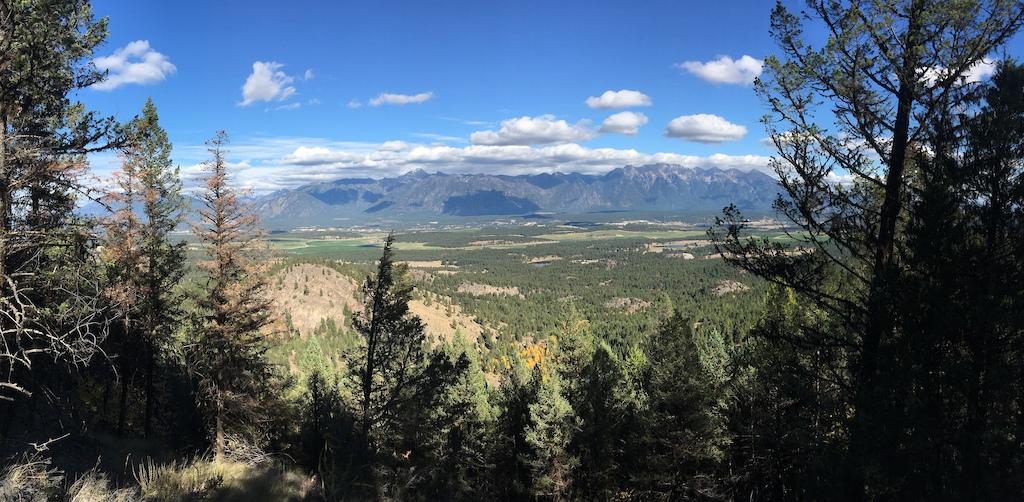 A beautiful reward of a rocky mountain view