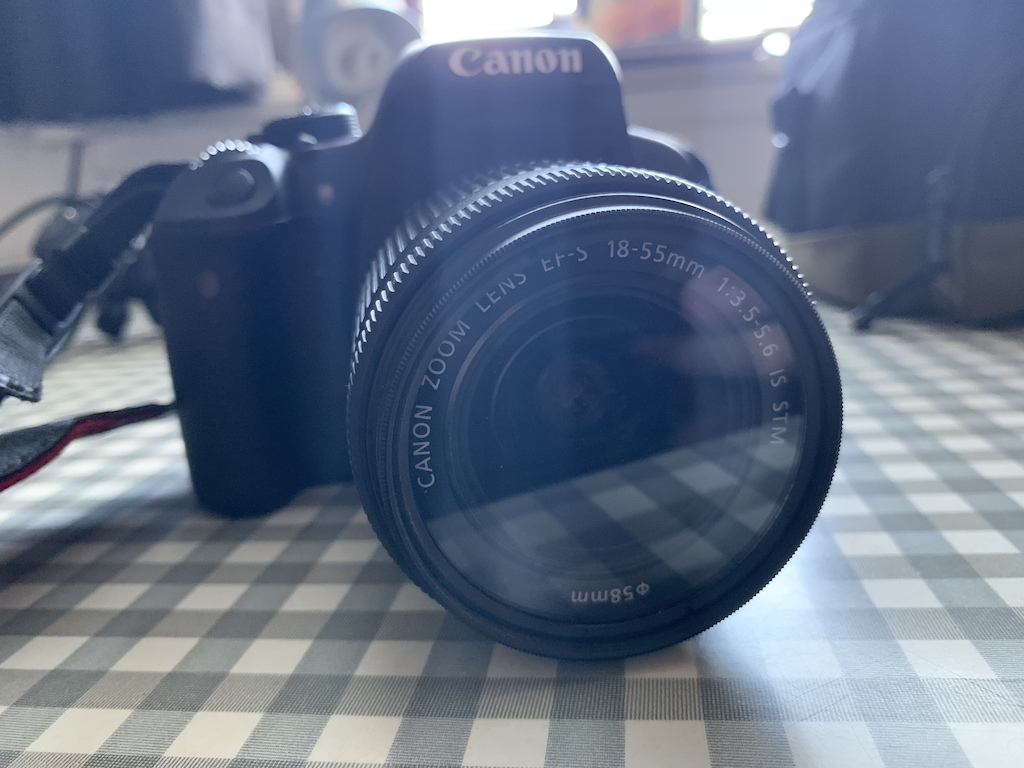 Canon 700d ultimate starter kit. Comes with Canon 18-55mm kit lens with various filters, Yongnuo 50mm f1.8 lens with neutral density filter, spare battery, lens hood, Konig tripod and Canon carry bag. All essentially new.