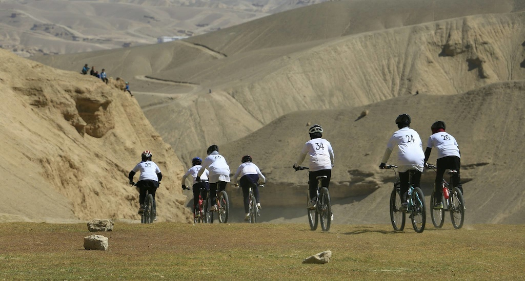 Twenty women participated in the race which is a very high and promising number given the obstacles they face in Afghanistan for riding bikes.