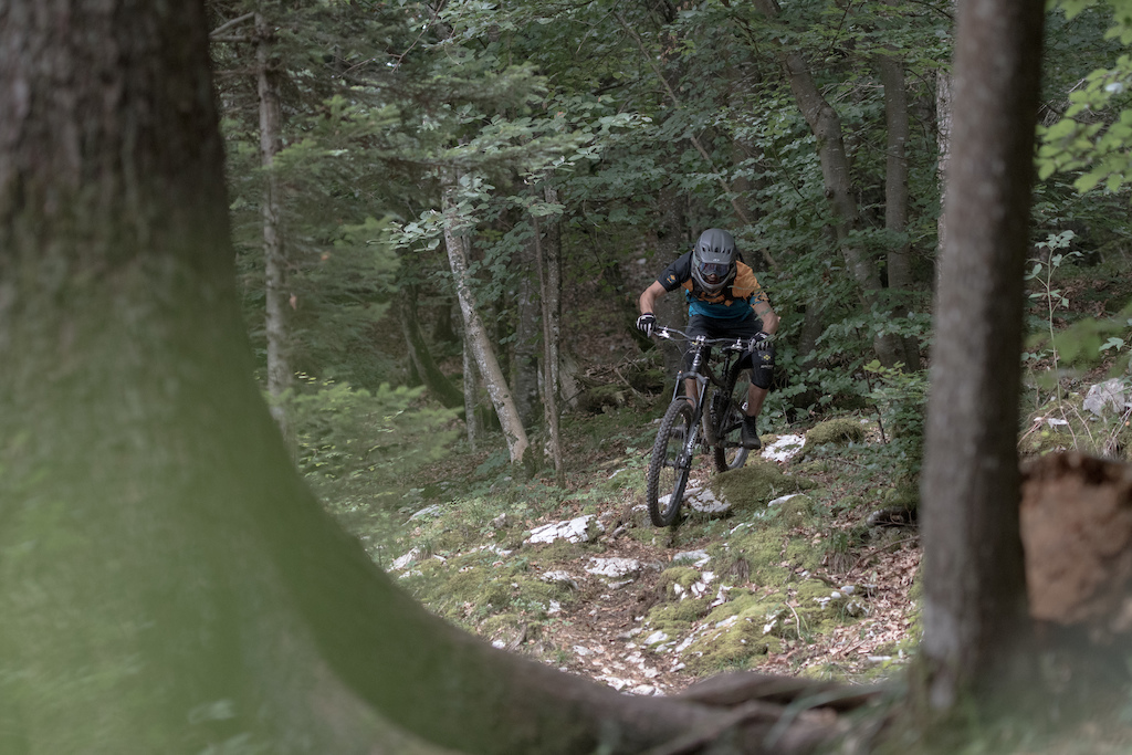 Natural enduro trail on mont Veyrier Rivieride L -bas annecy trip