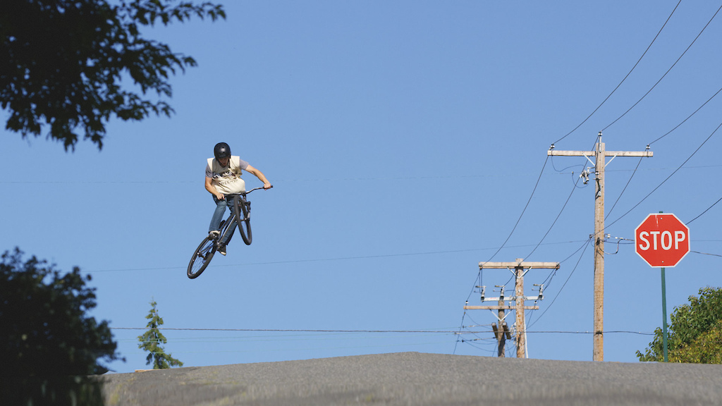 Scotty Scamehorn sending it on his paper route for Freehub Magazine.
