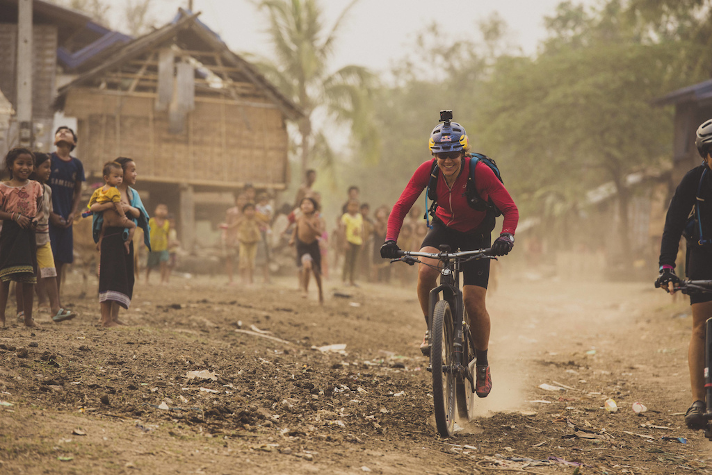 Rebecca Rusch rides along the Ho Chi Minh Trail for the feature film project 'Blood Road' in Vietnam, Laos, and Cambodia in March, 2015. // Josh Letchworth/Red Bull Content Pool // AP-1UD72HN451W11 // Usage for editorial use only // Please go to www.redbullcontentpool.com for further information. //