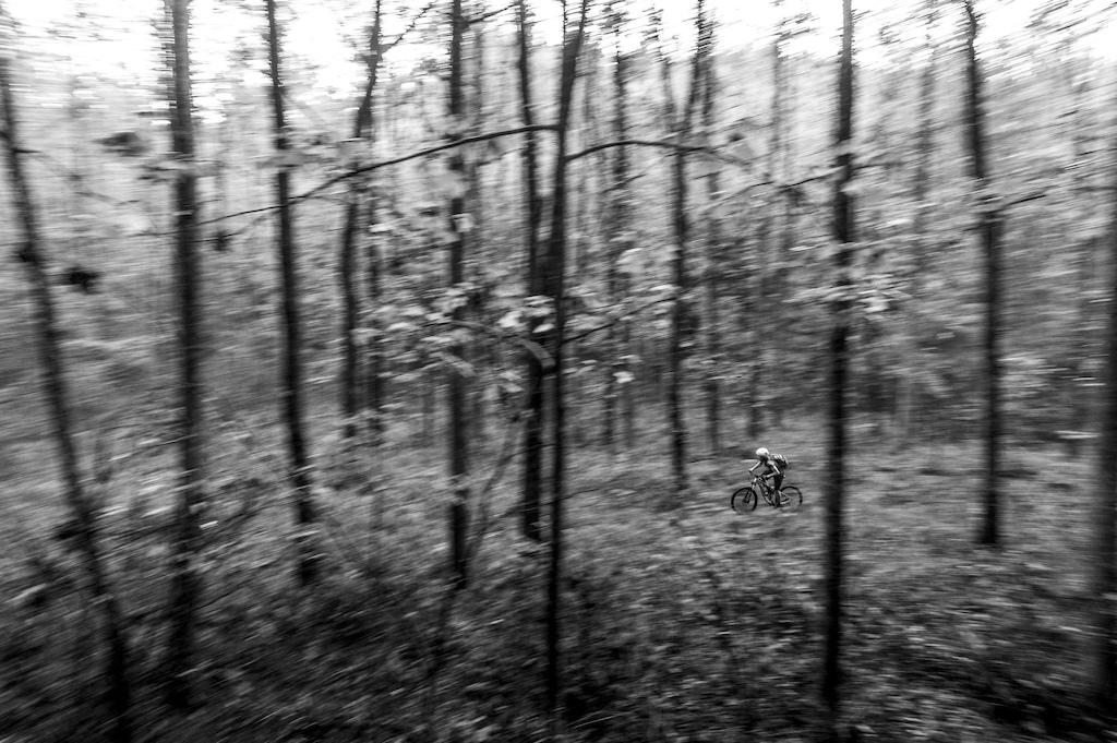 Evan Malinchock rips through a remote trail in Wilsons Creek Wilderness Area. www.mattjonesphoto.com Instagram mtjphoto
