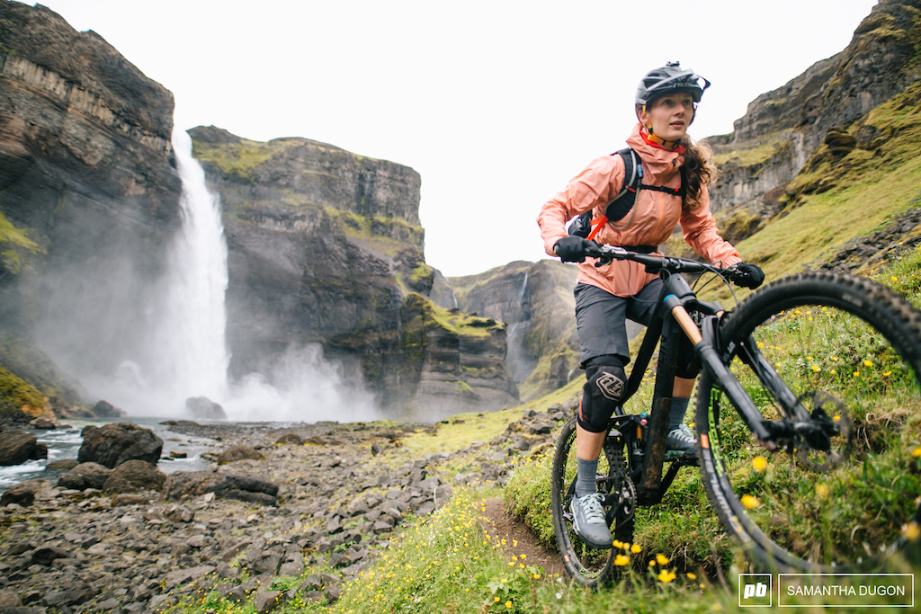 It s not everyday you get to ride a trail past an Icelandic waterfall.