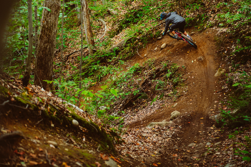 The trail is called La Demi-Lune French for half-pipe for obvious reasons.