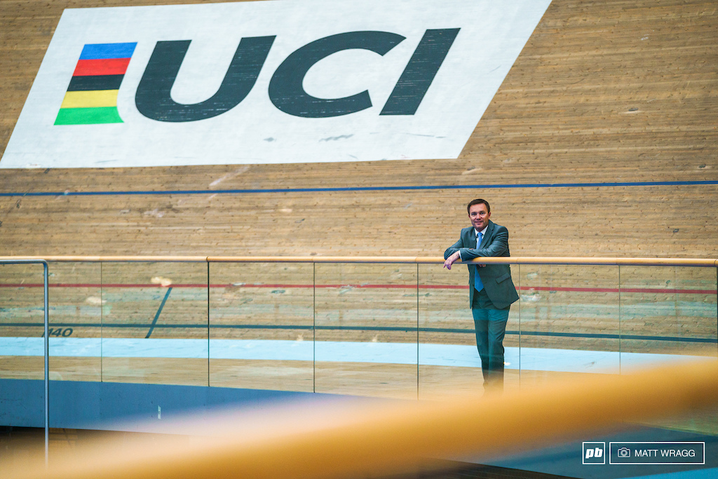 Interview with David Lappartient UCI president. Aigle Switzerland. Photo by Matt Wragg