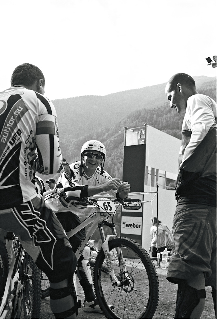 All three riders have been World Champions in 4Cross