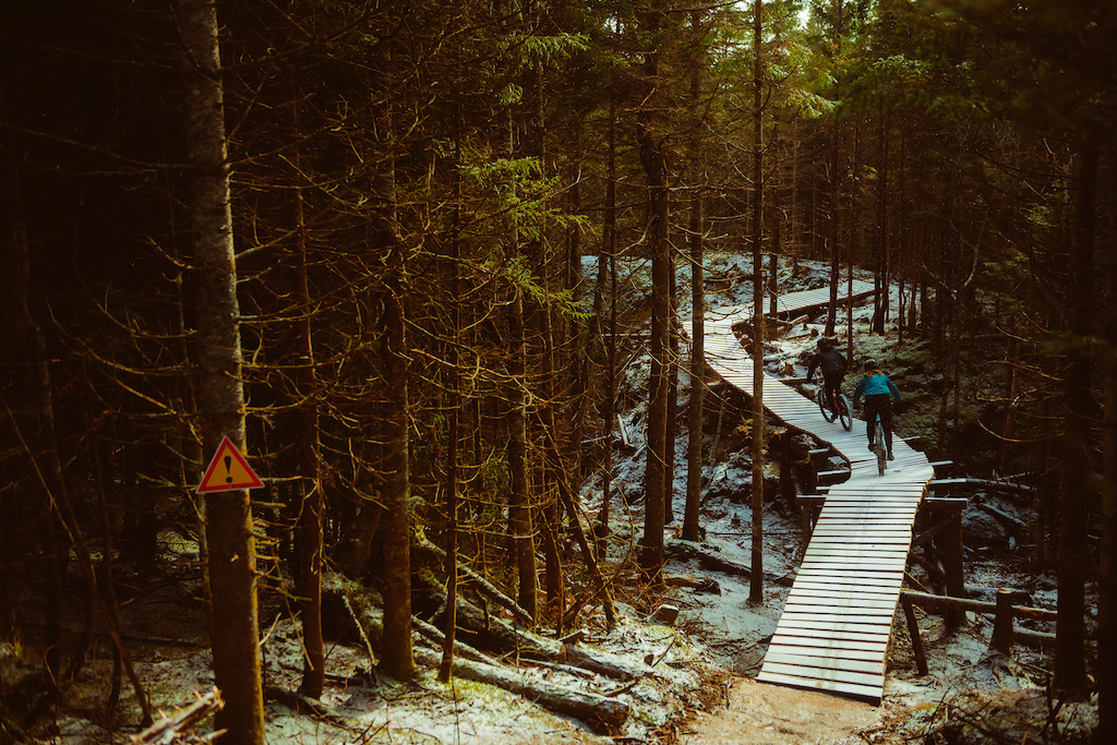 First tracks on a wooden bridge can be intimidating