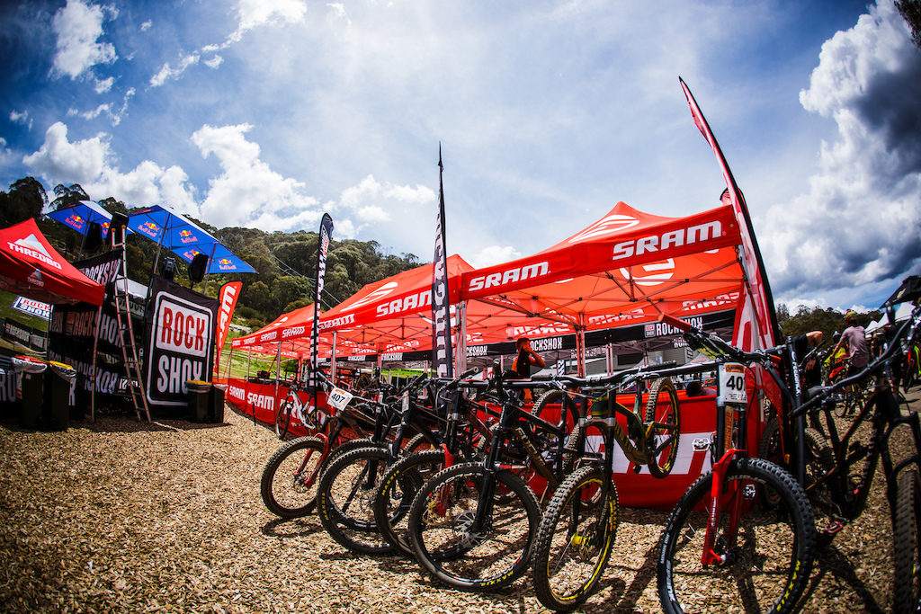 Sram have a big contingent of riders here this week and the pits are looking unreal to offer support under.