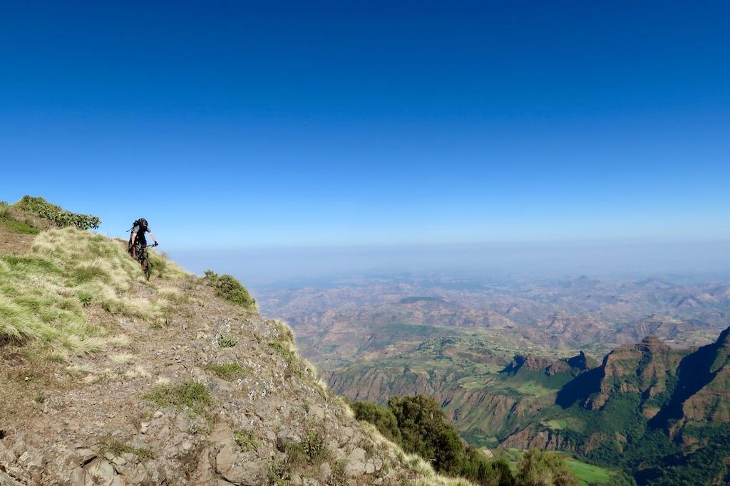 Enjoying the ridge on the way to Chennek