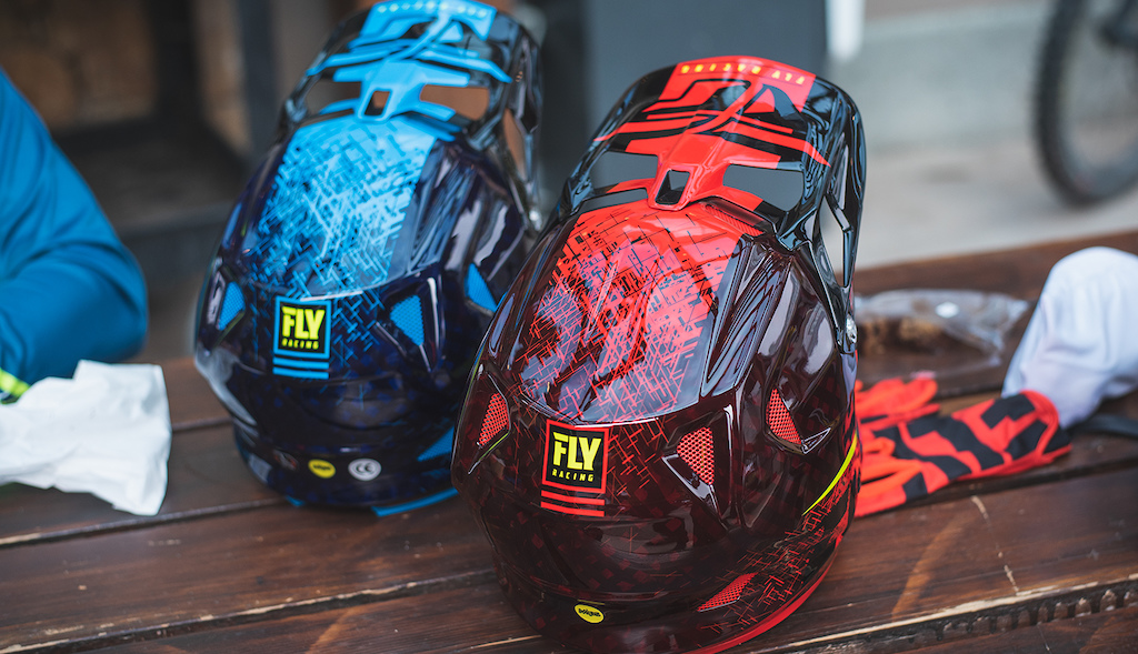 WERX Imprint Helmet in Red Black and Black Blue
